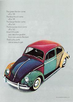 Beetles - Volkswagen - DA : Bill Bernbach - 70's