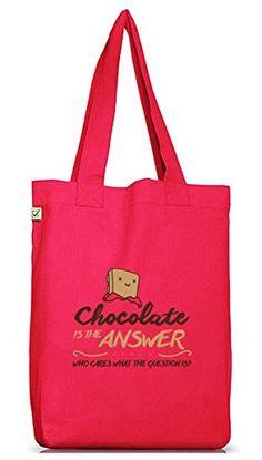 Shirtstreet24, Chocolate Is The Answer, Jutebeutel Stoff Tasche Earth Positive (ONE SIZE), Größe: onesize,Hot Pink - http://herrentaschenkaufen.de/shirtstreet24/one-size-shirtstreet24-chocolate-is-the-answer-5