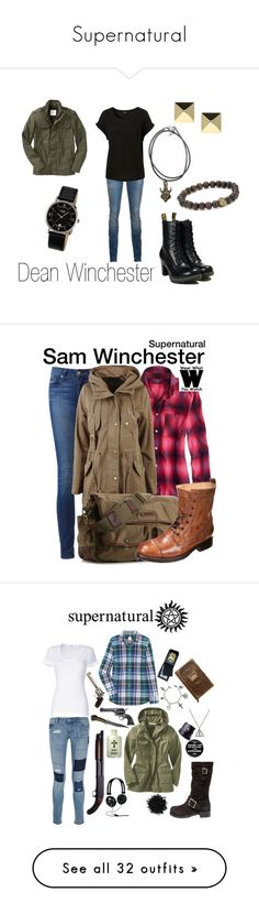 """Supernatural"" by elliedane ❤ liked on Polyvore featuring R13, Ettika, Anita Ko, Boccia, Old Navy, Dr. Martens, supernatural, dean winchester, American Eagle Outfitters and Paige Denim"