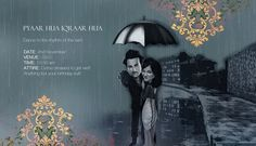 Pulkit Samrat and Shweta Rohira wedding invitation card