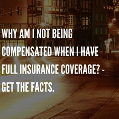 """Why am I not being compensated when I have full insurance coverage?  I sometimes hear, """"Why am I not being compensated when I have full insurance coverage?""""  The answers to this question may be very fact specific:.  Keep Reading: - http://www.zacharassociates.com/uninsured-underinsured-motorists/full-coverage-insurance-in-arizona/ #Phoenix   #Arizona"""