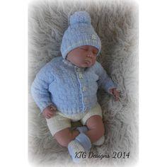 Diy Crafts - Callum Baby Pram Set Knitting pattern by KTG Knitting Designs Love Knitting, Baby Boy Knitting Patterns, Baby Cardigan Knitting Pattern, Baby Clothes Patterns, Knitting Designs, Baby Patterns, Knit Baby Sweaters, Knitted Baby Clothes, Pram Sets