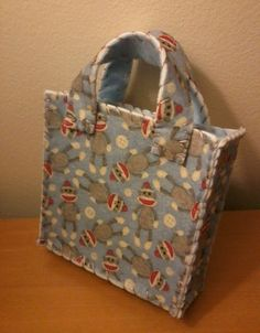 Sock Monkey Gift Bag by IFeltItUp on Etsy, $8.00