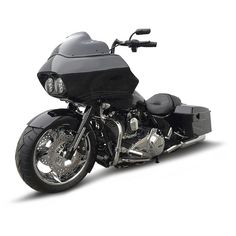 Road Glide with a Native Custom Baggers 180 front tire kit