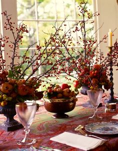 The Richness of Autumn Texture for Fall Tables - Carolyne Roehm