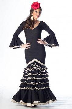 Traje de flamenca de Micaela Villa 2015: Esencia Negro