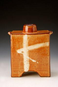 Ceramics by James Hake at Studiopottery.co.uk - 2011. Shino bottle, 20cm.