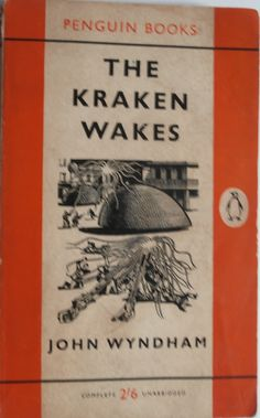 'The Kraken Wakes' by John Wyndham.   This edition published by Penguin Books Ltd Middlesex, England, 1962.  Cover illustration by Denis Piper.  While this isn't his most famous novel, it does feel as if is subverting the tropes of invading aliens.  They don't want land resources, just the sea.  The lead character is not spending his time having pitched battles with the aliens, with most of it taking place off-stage.  The melting of ice-caps is made a threat in 1953.