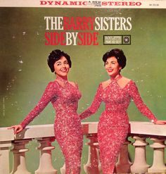 Glittered The Barry Sisters Side By Side Vinyl Record Album on Etsy, $85.00