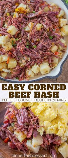 Corned Beef Hash is a CLASSIC breakfast made with homemade corned beef, diced po. Corned Beef Hash is a CLASSIC breakfast made with homemade corned beef, diced potatoes, and onions, ready in under 15 minutes! Breakfast Sausage Seasoning, Sausage Breakfast, Breakfast Dishes, Breakfast Potatoes, Irish Breakfast, Eat Breakfast, Breakfast Ideas, Homemade Corned Beef, Corned Beef Recipes