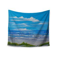 """Rosie Brown """"Sanibel Island"""" Coastal Painting Wall Tapestry"""