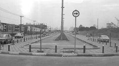 1980 - Avenida Juscelino Kubitschek - A ciclovia começava na altura da rua Atílio Innocenti e fazia o retorno próximo à Marginal Pinheiros