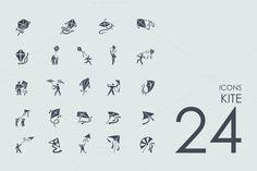 24 Kite icons by Palau on Creative Market
