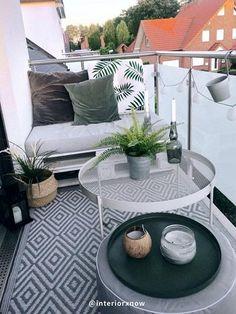 Narrow Balcony, Small Balcony Design, Small Balcony Garden, Small Balcony Decor, Small Balconies, Balcony Ideas, Small Balcony Furniture, Apartment Balcony Decorating, Apartment Design
