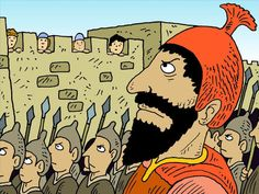 FreeBibleimages :: Hezekiah asks God for help :: When surrounded by the Assyrian army King Hezekiah asks God for help (2 Kings 18:17 - 19:37, 2 Chronicles 32:1-23, Isaiah 36:1 - 37:38)