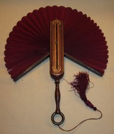 Victorian Leather Hand Fan