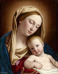 Giovanni Battista Salvi, called Sassoferrato SASSOFERRATO 1609 - 1685 ROME MADONNA AND CHILD oil on canvas, unlined 18 7/8 by 15 1/4 in.; 46.7 by 38.7 cm.
