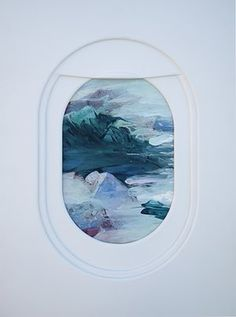 """Airplane window drawings by Jim Darling Guardian: """"While working on an art show about air and water, Los Angeles-based artist and designer Jim Darling developed an interest in the views from aeroplane. Hublot Avion, Airplane Window, Graffiti, Street Art, Gcse Art, Art Plastique, Painting Frames, Portrait, Art Inspo"""