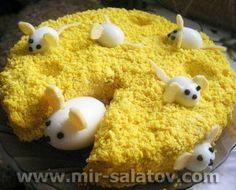 Салат «Мышки в сыре»