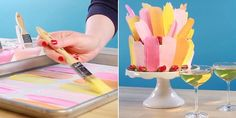 This Brushstroke Cake Is Easier to Make Than It Looks - TownandCountrymag.com