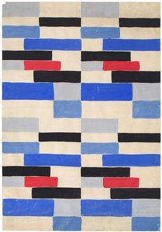 sonia delauney (red, white and blue and a bit of black: why does this remind me of the old covers they used on the tubes upholstery)