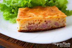Torta de Frios - Receita de Liqüidificador, para um chá da tarde com as amigas. Clique na imagem para ver a receita no blog Manga com Pimenta.