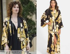 Devious Maids: Season 3 Episode 1 Evelyn's Black Floral Robe