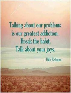 Talk about our joys