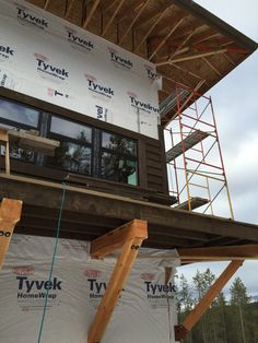 The Lookout – a new custom home in West Glacier Mountain West Glacier, Roof Overhang, Lookout Tower, Tower House, Building Companies, Abandoned Houses, Towers, Custom Homes, Retirement