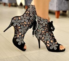 Flowery Pu Dress-sandal Dress Sandals from fashionmia.com