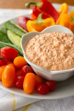This creamy roasted red pepper dip is so stupidly easy to make, it barely deserves to be called a recipe. From start to finish, it's done in 5 minutes flat!