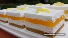 Limun kocke, brzo i jednostavno Best Cookie Recipes, Sweet Recipes, Cake Recipes, Dessert Recipes, Torte Cake, Cake Bars, Yummy Treats, Sweet Treats, Kolaci I Torte
