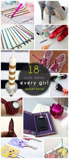 18 Life Hacks Every Girl Should Know | Easy DIY Projects for the Home http://craftriver.com/life-hacks-every-girl-should-know/
