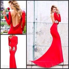 Wedding dress-evening dress-prom dress Long Sleeve Pink Lace Off ...