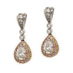 Shop Trice Signature Creations Earring at Trice Jewelers. As an authorized retailer, all of our Trice Signature Creations products are backed with a manufacturer warranty. Pink Diamond Jewelry, Pear Drops, Halo, Fancy, Drop Earrings, Jewels, Beautiful, Fashion, Moda