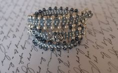Silver Gunmetal Wrap Bracelet by TheKsecret on Etsy, $39.00