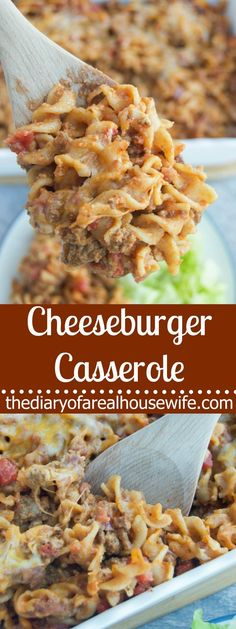 Cheeseburger Casserole. Simple dinner recipe that needs to be on your menu ASAP!