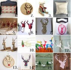 6th Street Design School: Etsy Reindeer Roundup