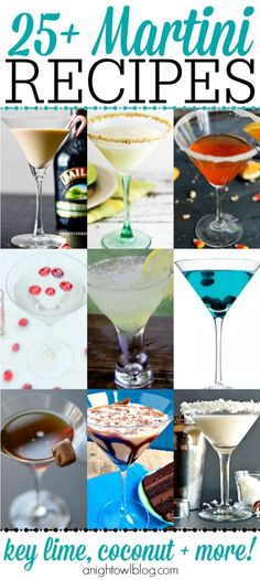 What a great list of Martini recipes!good for entertaining, national martini day party by Selena C