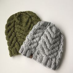 Sumac is a simple staghorn cable beanie. Named for the staghorn sumac, this is the perfect beanie for keeping the cold winter winds off you your ears. This is a great pattern for first time cable users as they are simple and repetitive. Loom Knit Hat, Loom Knitting, Knitted Hats, Knit Crochet, Winter Hats For Women, Beanie Pattern, Pattern Library, Stitch Markers, Digital Pattern