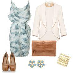 Blue, white & beige