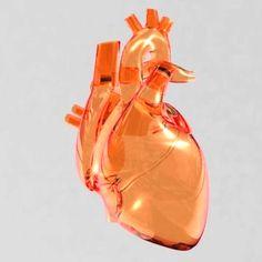 Metal heart sculpture