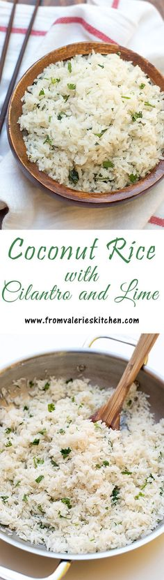 Jasmine rice with a fragrant, mild coconut flavor. Delicious with a variety of Asian and Indian entrees. ~ https://www.fromvalerieskitchen.com