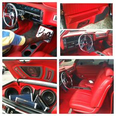 All the way custom red interior car stereo install custom trunk
