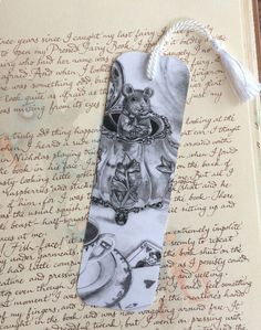 Alice In Wonderland Bookmark Dormouse Bookmark Fantasy Art Gothic Art Mouse Bookmark Teapot Bookmark by deannadavoli on Etsy