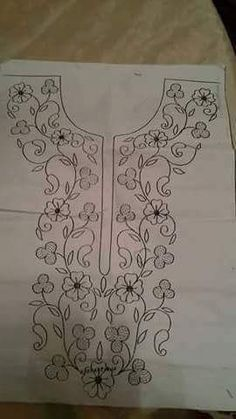 Hand Embroidery Design Patterns, Embroidery Flowers Pattern, Simple Embroidery, Hand Embroidery Stitches, Crewel Embroidery, Machine Embroidery, Bead Embroidery Jewelry, Beaded Embroidery, Bordado Floral