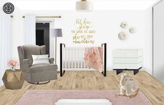 Contemporary, Glam Nursery by Havenly