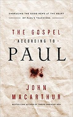 The Gospel According to Paul by John MacArthur CD Description: From master-expositor and Bible teacher John MacArthur, a revelatory exploration of what the apostle Paul actually taught about the good