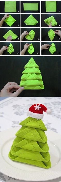 Christmas Tree Napkin Folding                                                                                                                                                                                 More