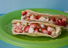 How fun to have a fiesta and make dessert tacos after--she suggests a dessert taco bar that I think sounds really fun